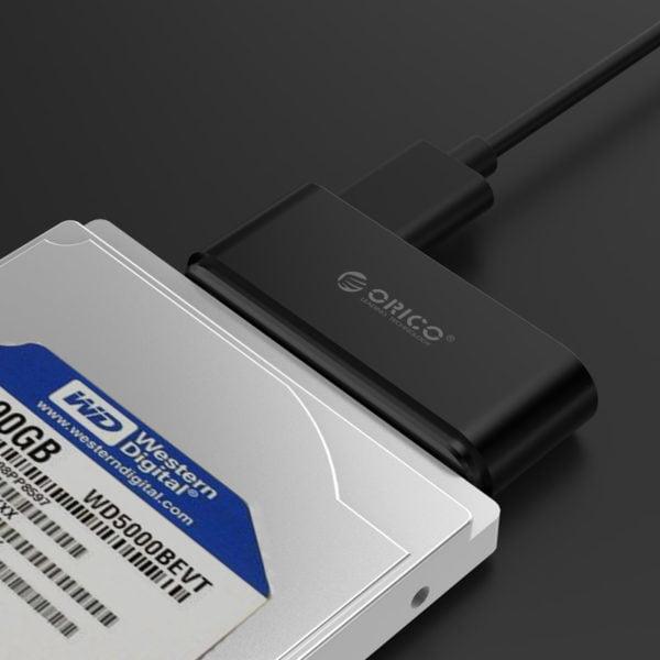 ADAPTADOR HDD SSD 2.5 ORICO SATA A USB 3.0 C