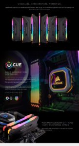 MEMORIA CORSAIR VENGEANCE RGB PRO DDR4 16GB 3200MHZ F