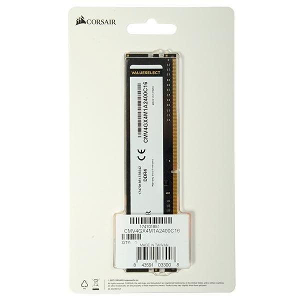 MEMORIA RAM CORSAIR VALUE SELECT DDR4 4GB 2400MHZ B