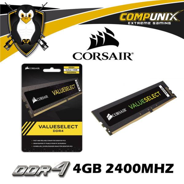 MEMORIA RAM CORSAIR VALUE SELECT DDR4 4GB 2400MHZ