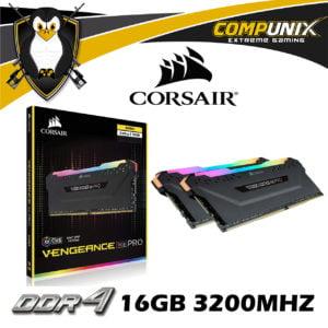MEMORIA CORSAIR VENGEANCE RGB PRO DDR4 16GB 3200MHZ