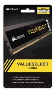 MEMORIA RAM CORSAIR VALUE SELECT DDR4 4GB 2400MHZ A