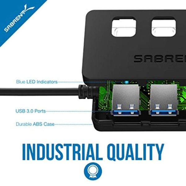 HUB SABRENT 4 USB 3.0 CON SWITCH G
