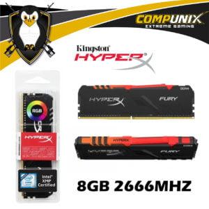 MEMORIA DDR4 HYPERX RGB 8GB 2666MHZ