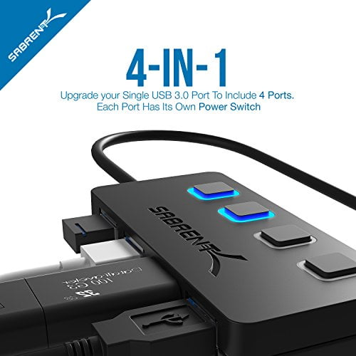 HUB SABRENT 4 USB 3.0 CON SWITCH D