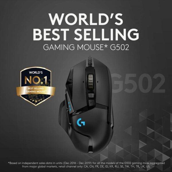MOUSE GAMER LOGITECH G502 HERO BLACK C