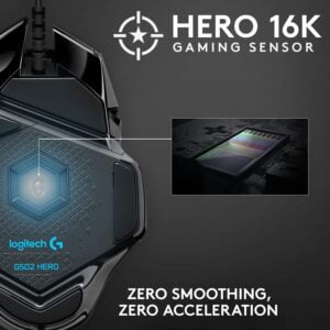 MOUSE GAMER LOGITECH G502 HERO BLACK D