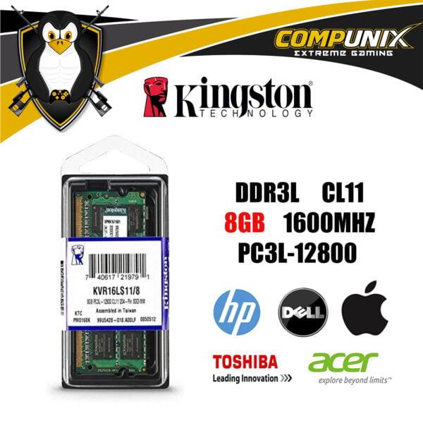 MEMORIA RAM KINGSTON LAPTOP 8GB DDR3L 1600mhz