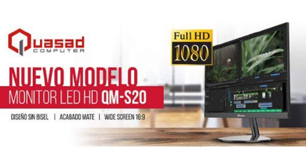 MONITOR QUASAD 20 PULG QM-S20 FULL HD 1920X1080 B