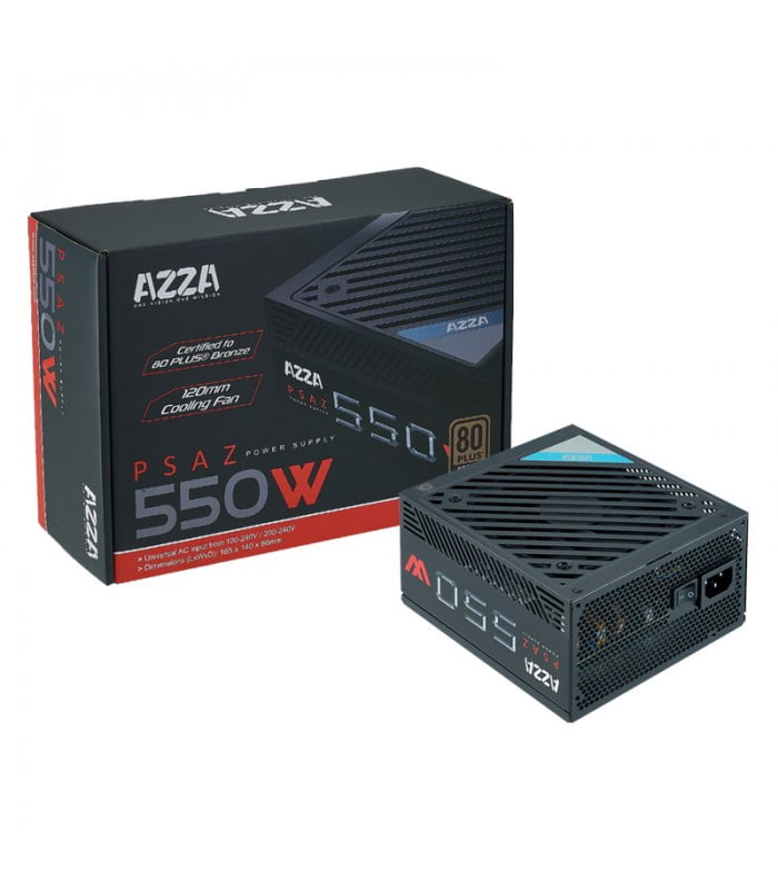 Fuente Atx Real 550W Azza 80Plus Bronze