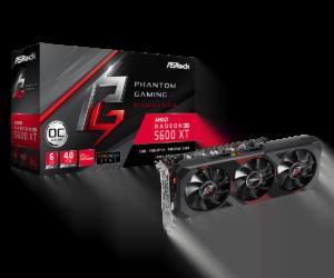 TARJETA DE VIDEO ASROCK Radeon RX 5600 XT PHANTOM GAMING D3 6G OC A