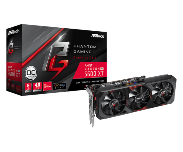 TARJETA DE VIDEO ASROCK Radeon RX 5600 XT PHANTOM GAMING D3 6G OC A