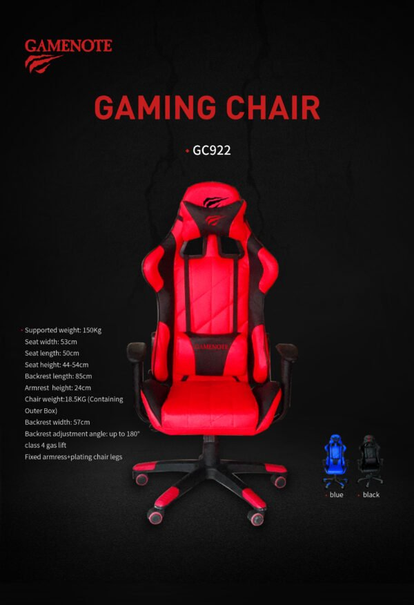 SILLA GAMER HAVIT HV-GC922G ROJA B
