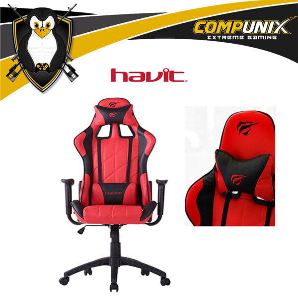 SILLA GAMER HAVIT HV-GC922G ROJA