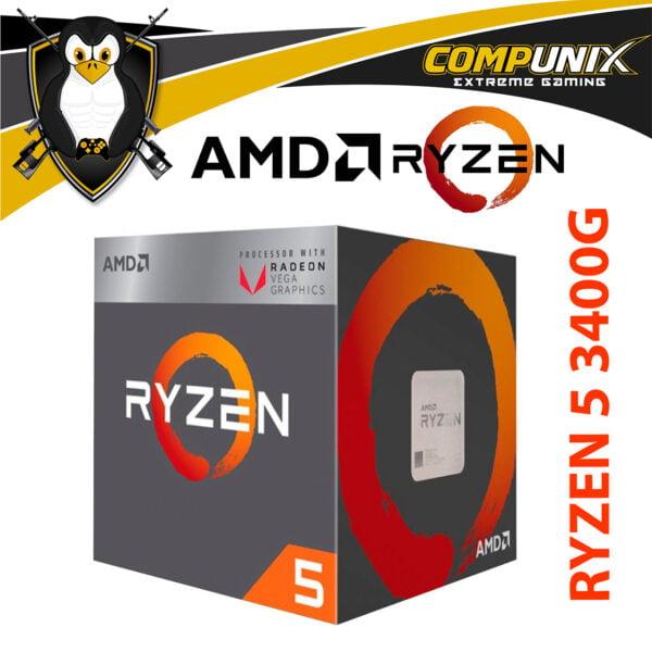 PROCESADOR APU AMD RYZEN 5 3400G 3.7GHZ