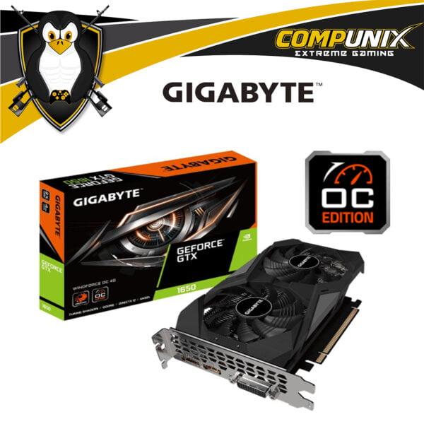 TARJETA DE VIDEO GIGABYTE GTX1650 OC 4GB