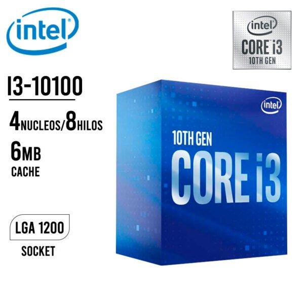 PROCESADOR INTEL CORE I3-10100 4.3GHZ B